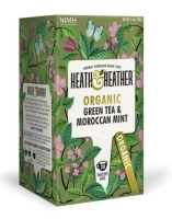 Herbata ekologiczna Green Tea & Maroccan Mint 30 g - Heath & Heather