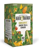Herbata ekologiczna Green Tea & Ginger 30 g - Heath & Heather