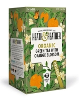 Herbata ekologiczna Green Tea & Orange Blossom 30 g - Heath & Heather